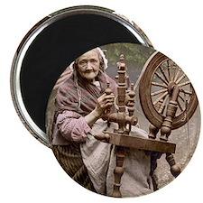 Irish spinner and spinning wheel Magnet