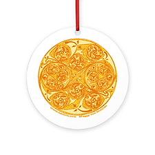 Celtic Spiral Sun Ornament (Round)