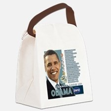Obama 2012 - Change Adds Up Canvas Lunch Bag