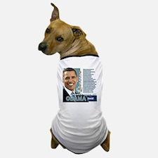 Obama 2012 - Change Adds Up Dog T-Shirt