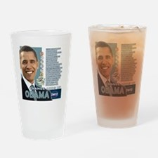 Obama 2012 - Change Adds Up Drinking Glass