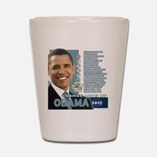 Obama 2012 - Change Adds Up Shot Glass