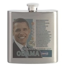 Obama 2012 - Change Adds Up Flask