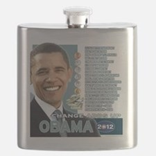 Obama 2012 - Change Adds Up Flask