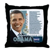 Obama 2012 - Change Adds Up Throw Pillow