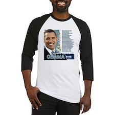 Obama 2012 - Change Adds Up Baseball Jersey