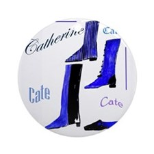 Catherine,  Boots Round Ornament