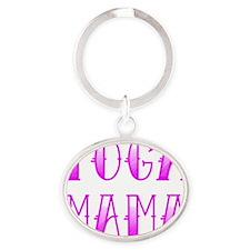 Yoga Mama Tattoo Oval Keychain