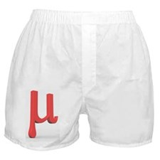 Greek letter Mu, lower case Boxer Shorts