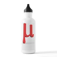 Greek letter Mu, lower Water Bottle