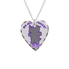 World Rhino Day Necklace Heart Charm