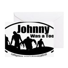 Zombies Johnny Tool Greeting Card