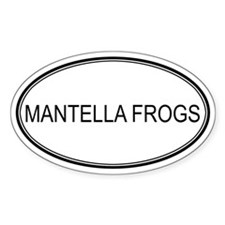 Oval Design: MANTELLA FROGS Oval Decal