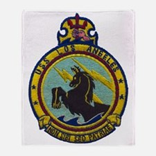 uss los angeles patch transparent Throw Blanket