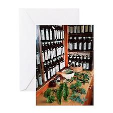 Herbal pharmacy Greeting Card