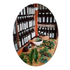 Herbal pharmacy Oval Ornament