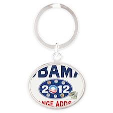 Obama 2012 T-shirts CHANGE ADDS UP Oval Keychain
