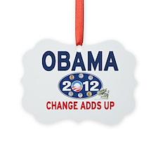 Obama 2012 T-shirts CHANGE ADDS U Ornament