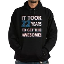 22 year old birthday designs Hoodie