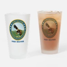 Fort Belvoir with Text Drinking Glass