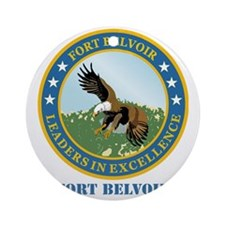 Fort Belvoir with Text Round Ornament