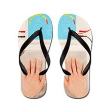 Iontophoresis for excess sweating Flip Flops