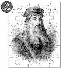 Leonardo da Vinci, Italian artist Puzzle