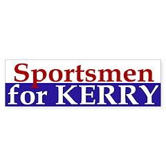Sportsmen for Kerry (bumper sticker)