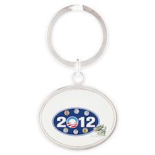 Obama 2012 T-shirts oval Oval Keychain