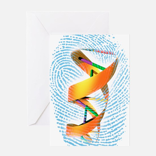 DNA fingerprint Greeting Card