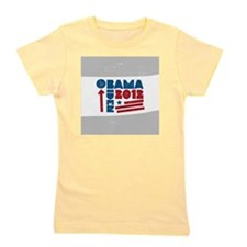 Obama Biden 2012 Button Girl's Tee