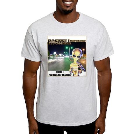 Roswells Coolest Alien Ash Grey T-Shirt