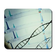 DNA and a genetic sequence Mousepad