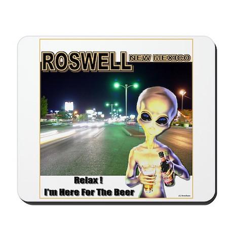 Roswells Coolest Alien Mousepad