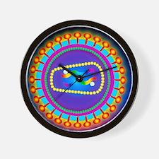 Illustration of the HIV retrovirus, bla Wall Clock