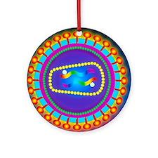 Illustration of the HIV retrovirus, Round Ornament