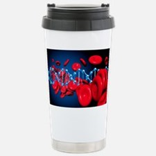 DNA and red blood cells Stainless Steel Travel Mug
