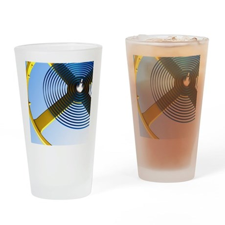 Balance wheel of a watch, artwork Drinking Glass