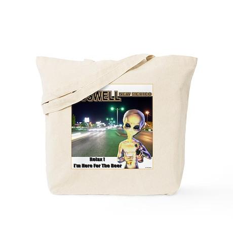 Roswells Coolest Alien Tote Bag