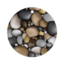 Rocks_iPad_sleeve Round Ornament
