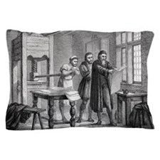 Johann Gutenberg, German inventor Pillow Case