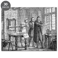 Johann Gutenberg, German inventor Puzzle