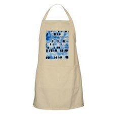 Artwork of DNA sequences and a human fingerp Apron