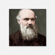 "Lord Kelvin, Scottish physi Square Sticker 3"" x 3"""