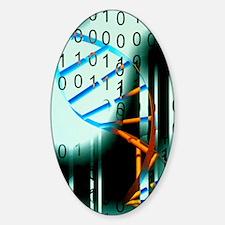 Biological computing Sticker (Oval)