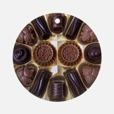 Assorted chocolates Round Ornament