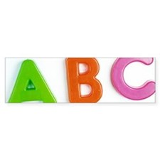 Alphabet Bumper Bumper Sticker