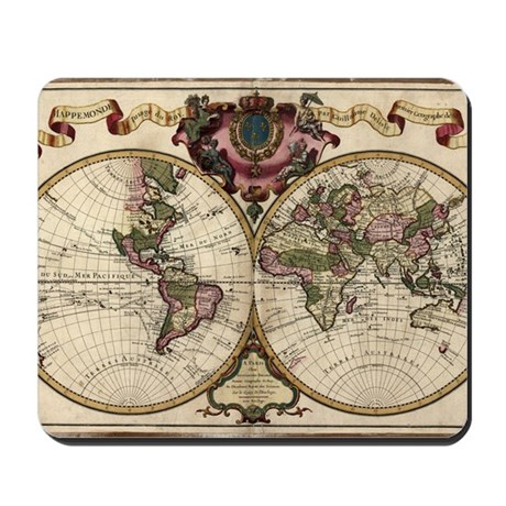 Map of the world, 1720 Mousepad
