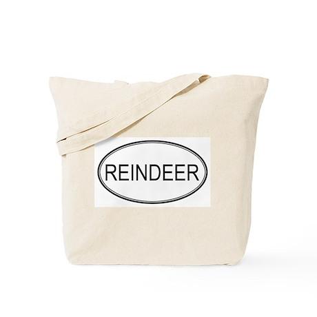 Oval Design: REINDEER Tote Bag