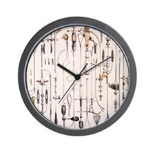 Instruments for removing bladder stones Wall Clock